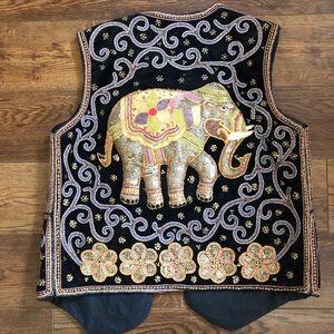 Beaded Elephant Middle- Eastern Inspired Vest